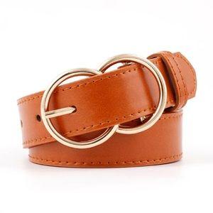 ⭐️NEW⭐️Double round buckle women's belt